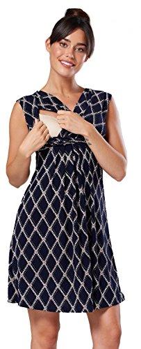 808c neck 3 Nursing V Style Women's Sleeveless Zeta Maternity Ville line A Dress USH8vZn