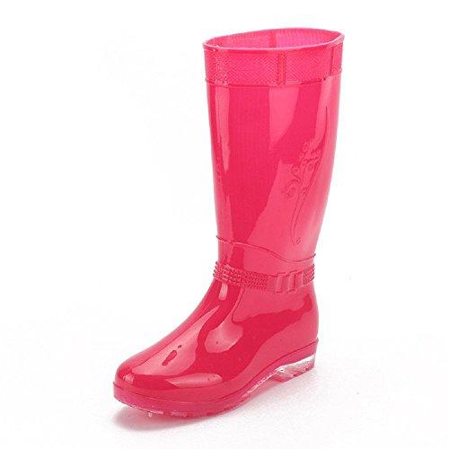 verano Botas lluvia primavera de mujer de de la del Pink la B0wFxqW1Fd