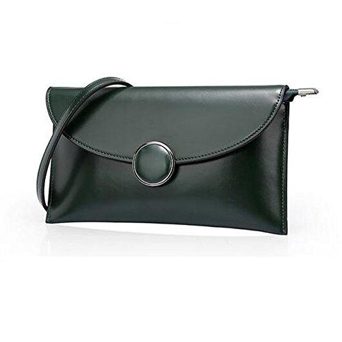 LS Frühling Und Sommer Clutch Bag Kette Mini Leder Handtasche Green muQs3DA4i