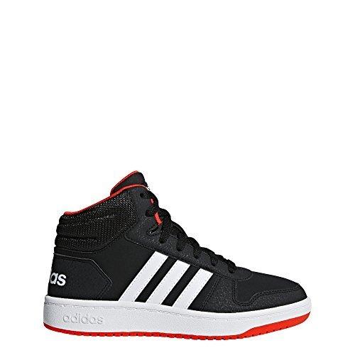 Adidas Court Sport Jacket - adidas Unisex Hoops 2.0 Basketball Shoe, Black/White/red, 6 M US Big Kid