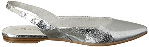 Tamaris 29406, Sandalias con Cuña para Mujer Plateado (Silver Crack 944)