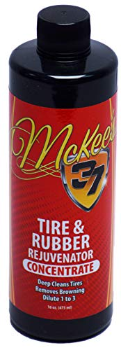 Half Gallon Concentrate - McKee's 37 MK37-415 Tire & Rubber Rejuvenator Concentrate (Creates Half Gallon of Tire Cleaner), 16. Fluid_Ounces