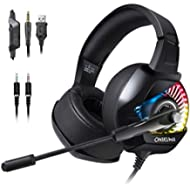 [Sponsored]PS4 Gaming Headset with Mic for PC, Xbox One S, Laptop, Mac, Stereo Professional Gamer...