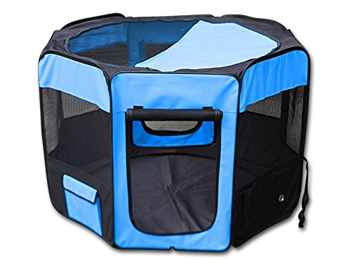 YoYo Moon 46″ D X 30″ H Pet Puppy Dog Playpen Exercise Puppy Pen Kennel 600d Oxford Cloth