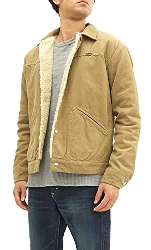 - Wrangler Corduroy Sherpa Jacket WM1772 Men's Trucker Jacket Beige (X-Large)