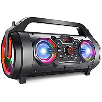 Amazon Com Mini Boombox With Led Speakers Retro
