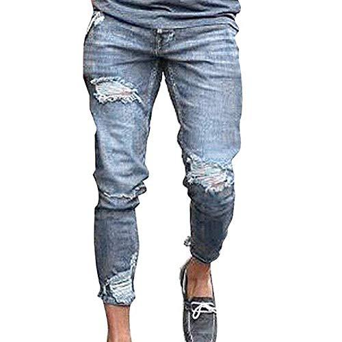 Con Disegno Da Uomo Jeans Grau Buco Incrinato Adelina Denim Stretch Pantaloni Abbigliamento Distrutto xYnaq8R