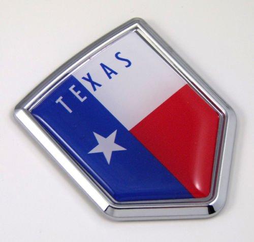 Texas TX USA State Flag Car Chrome Emblem Decal Sticker Bike Laptop Boat 3dd Sticker ()