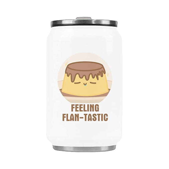 Amazon.com | WECE Stainless Steel Travel Cup Feeling Flan-tastic Coffee Mug or Coca Cup 10.3 Ounce: Coffee Cups & Mugs