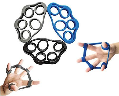XMark Fitness 3xPACK Grip Strength Trainer Finger Stretcher Hand Resistance | Finger Exerciser Hand Resistance Bands Forearm Exerciser