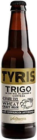 Cerveza artesana Tyris Trigo - Pack 24 botellas x 330 ml