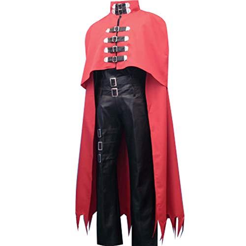 Adult Vincent Valentine Cosplay Costume Full Set Halloween (XL) ()