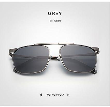 Jusheng Diseñador de la Marca Gafas de Sol cuadradas Unisex Hombres Mujeres Hombre polarizado Gafas Mujer