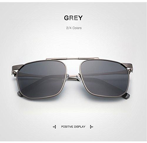 Retro la Hombres Unisex Mujer Gafas de Hombre Shishanyun Oculos Gafas Diseñador Gray Cuadradas Moda con Polarizado Mujeres Gafas Marca q04nfA