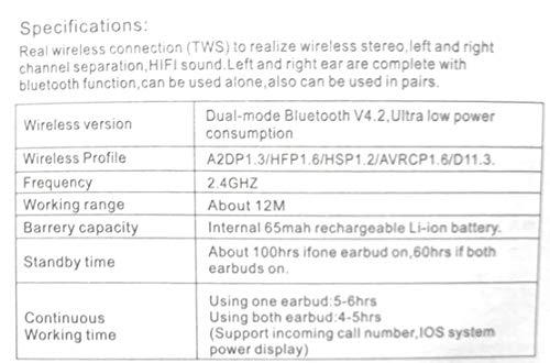 Top 10 i7 tws earbuds v4.2+edr for 2019