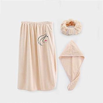 Toallas de baño Juego de toallas de baño (1 falda de baño, 1 gorra