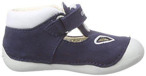 Geox B Tutim A - Mocasines para Bebés que Gatean Bebé-Niñas Azul (Navy/whitec4211)