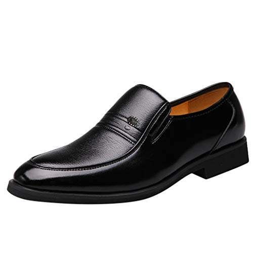Men's Lace up Genuine Leather Oxford Sole Classic Casual Shoes for Work and Hiking Black