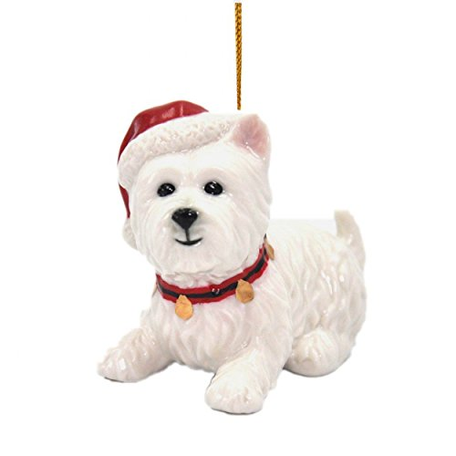 Cosmos Gifts 56578 Christmas Ornament - West Terrier, White (Westie Ornaments)