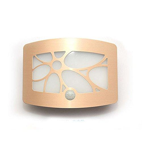 Aluminum Bright Motion Sensor Activated LED Wall Sconce Night Light - 8