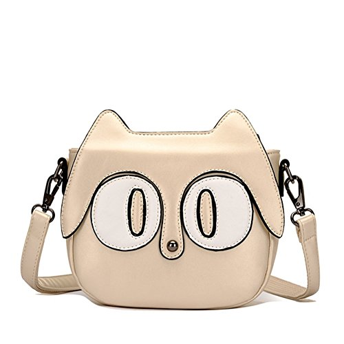 Hipytime BHB880453C2 New Style PU Leather Cute Cartoon Women's Handbag,Round Kitten - Bag Miu Collection Miu