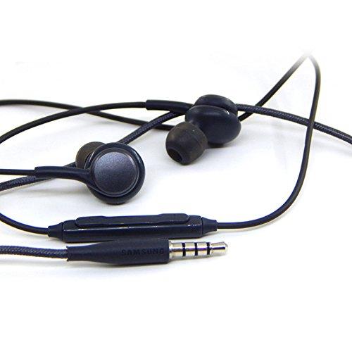Gederq サムスンギャラクシーS8プラスヘッドセット耳カップのためにマイクボリュームコントロールGH95との10pcs/lot熱い販売3.5ミリメートルイヤホンヘッドホン B07D8PM2KRブラック