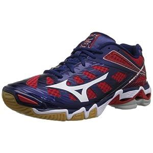 Mizuno Women's Wave Lightning RX3 Volley Ball Shoe,Navy/Red,13 M US
