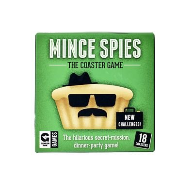 Fun Mince Spies Dinner Party Coast Game - 18 Wipe-Clean Coasters lakeland
