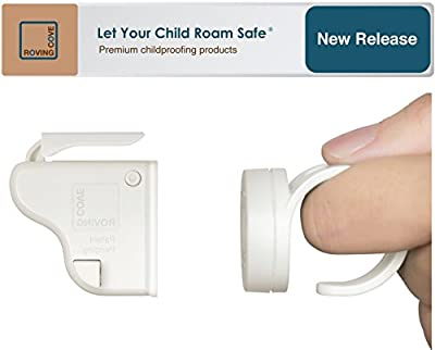 Roving Cove | Baby Magnetic Cabinet Locks Child Safety | Safe Lock | Baby Proofing | No Drilling, No Tools Needed |
