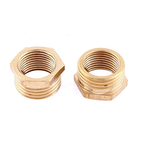 1/2x3/8 BSP M/F Thread Hex Reducer Bushing Pipe Fitting Connector 2pcs