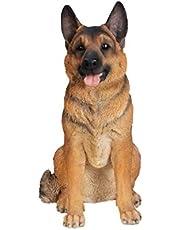 Hi-Line Gift Sitting Dog-German Shepherd Statue, Large