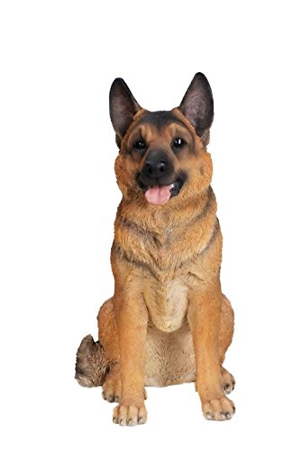 Hi-Line Gift Ltd Sitting Dog - German Shepherd - - Sculpture Shepherd German