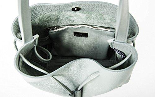 Bucket Sole - Tasche aus Leder Eimer Kalb grün ungefüttert Himmel - PassioneBags - Made in Italy