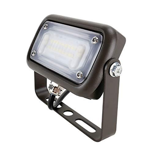 Mini LED 15W Flood Light 120V-277VAC Ra70 5000K 7H7V Trunnion Mount Dark Bronze