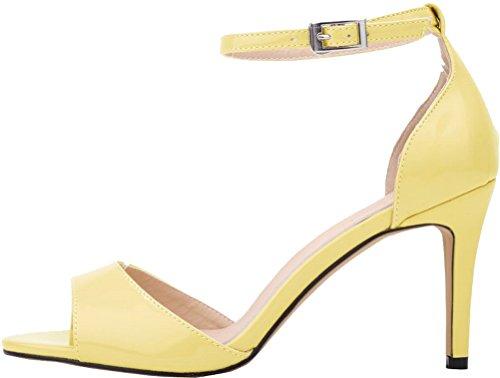 Salabobo Zapatos Amarillo De Mujer Tacón OTr0wqO
