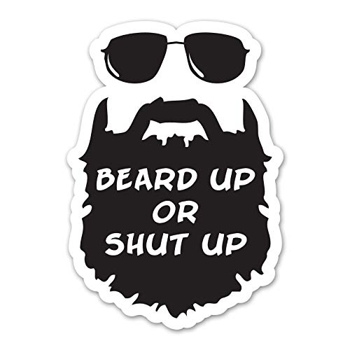 Ninja Pickle Beard Up Decal for Your Car Or Truck - Interior Or Exterior Use - Made with Adhesive Vinyl in Full Color - Made in The U.S.A. (10 inch)