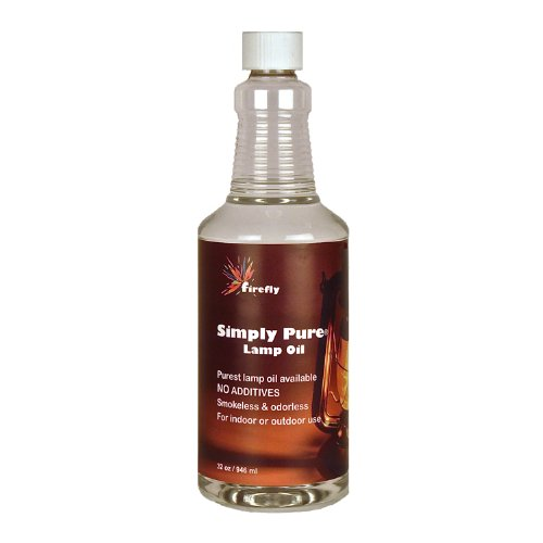 Firefly Candle and Lamp Oil - 32 oz - Smokeless & Odorless - Simply Pure - Ultra Clean Burning - Liquid Paraffin Fuel - Highest Purity Available by Firefly (Image #1)