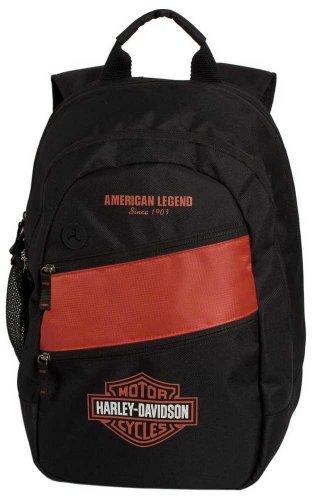 Harley-Davidson Mens Freedom Backpack BP1945S-ORGBLK by Harley-Davidson