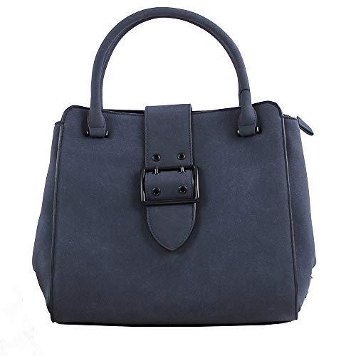 Mujer Bolso Azul Shopper Marino Fidenza W H cm de x 18x27x30 Mano Eferri L x para xadY4n6q4w