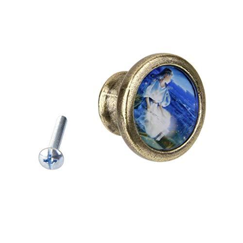 Vintage Round Cabinet Door Drawer Dresser Wardrobe Handle Pull Knob Virgo