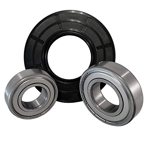 Front Load Bearings Washer Tub Bearing and Seal Kit with Nachi bearings, Fits Kenmore Tub W10253864 (Includes a 5 year replacement warranty and link to our