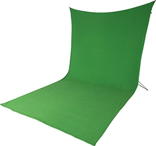 EXTRA LONG Portable Green Screen Kit by Acro Products – Wrinkle-Resistant, Chromakey Backdrop & Collapsible Stand. Take it with You and Spend Less Time Setting Up and Editing. from ACRO