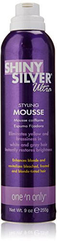 One 'n Only Shiny Silver Ultra Styling Mousse, 9 - Silver Shiny Ultra