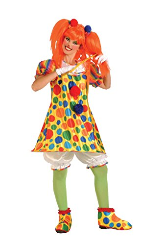Forum Novelties Women's Giggles The Clown Costume, Multicolor, Standard ()