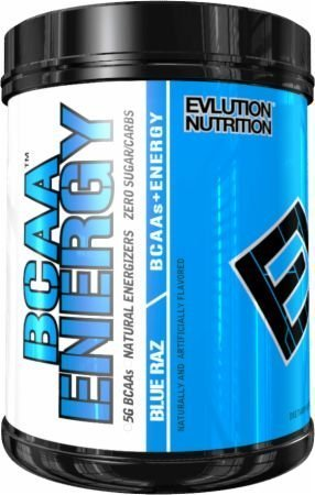 Evlution Nutrition BCAA Energy - Energizing Amino Acid for Muscle Building, Recovery, and Endurance (70 Servings, Blue Raz)