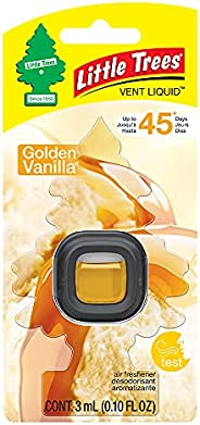 Little Trees Car Air Freshener   Vent Liquid Provides Long-Lasting Scent for Auto or Home   Golden Vanilla, 4-