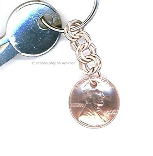 Amazon 70th Birthday Gift Women 1949 Penny Keychain Coin Handmade