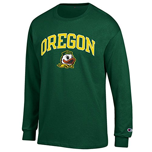 Elite Fan Shop Oregon Ducks Long Sleeve Tshirt Varsity Green - X-Large