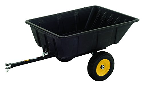 (Polar Trailer 9542 LG10 Lawn and Garden Trailer, 69 x 37 x 28-Inch 900 Lbs Load Capacity 10 Cubic Feet with 13 Cubic Feet Heaping Tub Quick Release Tipper Latch Tilt-and-Swivel Dumping for Hauling and Utility, Black)