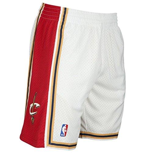Cavaliers Swingman Shorts - Mitchell & Ness Cleveland Cavaliers White Swingman Shorts (X-Large)